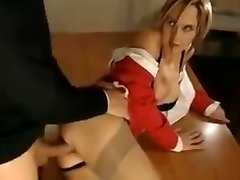 A brief looped clip of a teacher taking anal from a student.