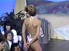 Three retro braless bikini contests