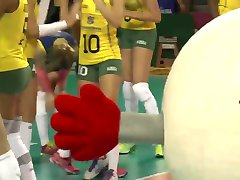 Brazilian Female Volleyball Team - Cameltoe Spread