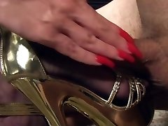 Worship my golden heels