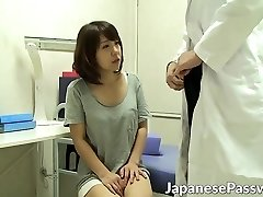 Horny cosplay doc seduces and bangs hot Japanese chick