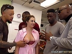 Waitress Elektra Rose Gang-fucked By Black Clients
