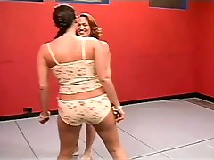 Two Friends Wrestle and Trib with a Dildo