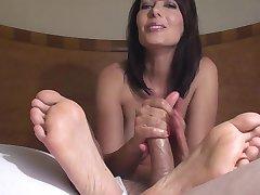 Mature Zoey- feet full of cum