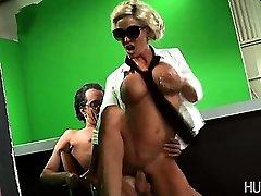 Lady Gaga climbing onto hard pecker