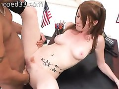 pigtails coed fucks in teaching