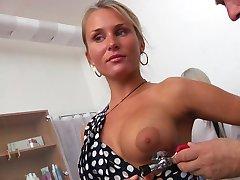 Blonde Laura Gyno Exam