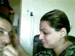 Zralé arabské pár self video