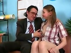 SB3 Nice Girl Gets Drilled By The Headmaster !