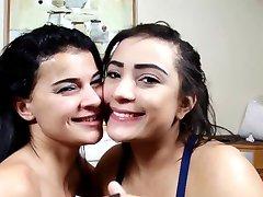 브라질 레즈비언 깊은 키스