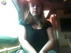 Mature BBW Public Flashing on a Train