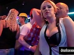 Bi porn industry stars gets pussies gobbled in public
