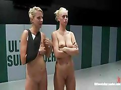 Nude wrestling the way it should be, hot and horny for all