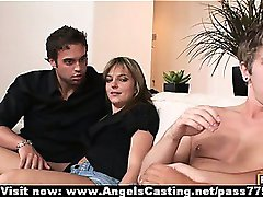 Foursome swinger sex party with hot wives doing blowjob and fucked