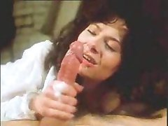 Vintage retro mature woman blowjob with big cumshot