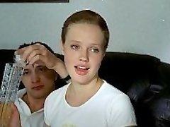 three russian men deflower crying girl