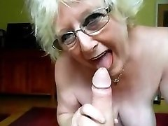 granny nice bj and mistress gives huge cock hj