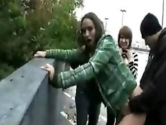 goth femmes fucking on the street
