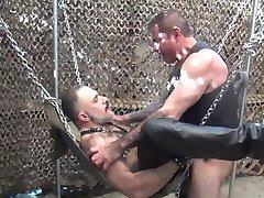 Bear-backing leather daddies - BareBackrt Media