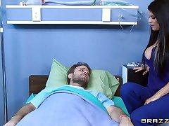 Mick Blue teaches Peta Jensen the rules of surviving