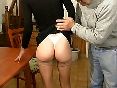 Mature babe fisting and humping