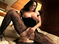 Pantyhose face sitting and oral sex on a bed