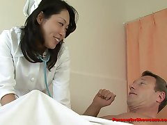 Innocent Japanese Nurse Gets Stripped and Doubled Teamed!