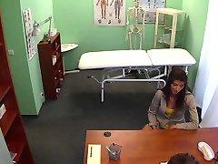 Doctor fucking stunning babe on examination table