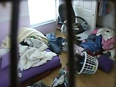 My younger sister on the hidden cam