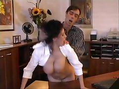 Beatrice busty secretary office sex