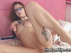 Emo Asian Tattooed Teen On Webcam Loves Anal