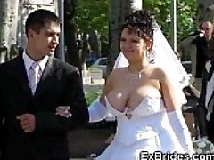 Real Brides Show Their Cunts!