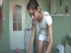 czechian Natasha at water closet