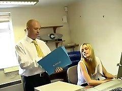 Nubile Secretary Serves