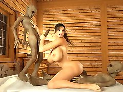 2 monster joder busty chica