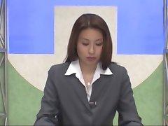 Japonês leitor de notícias bukkake