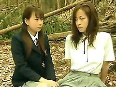 Geile Asiatische Lesben Draußen Im Wald