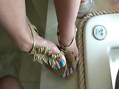 Cum High Heel Lange Blue Zehen - heelslovers@pornhub