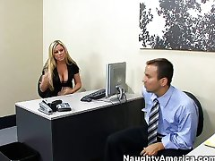 Office pranks beautiful busty blonde