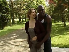 British slut Jo gets fucked outdoors