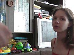 Cum på russisk jente's head