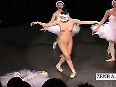 Subtitulado en Japonés CMNF bailarina considerando desnudo