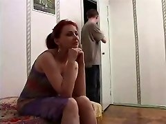 Russian mature mom and a mate of her sonnie! Amateur!