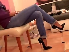 19 CM high heels und engen jeans-hot-lady