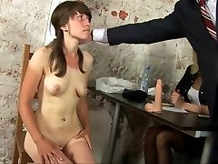 Super-naughty naked interview for young secretary