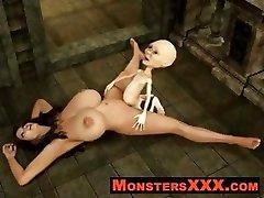 Horrific 3d Creatures fucking innocent chicks