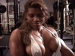 Sexy ebony workout