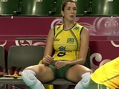 CLOSE UP SHOTS AT THE Superb BRAZILLIAN  Glorious VOLLEYBALL TEAM