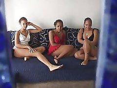 latina teens having fun