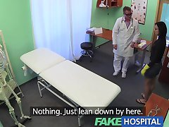 FakeHospital Sexy cleaning lady gets down and dirty with filthy doctor and horny nurse